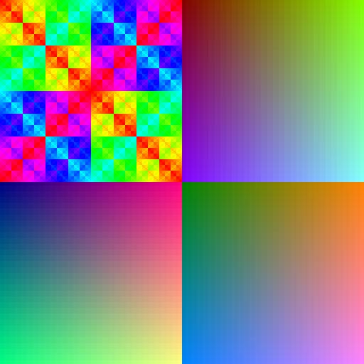 color patterns RGB555