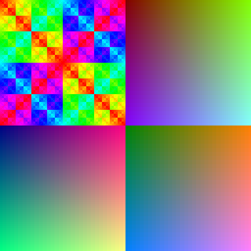 color patterns RGB565
