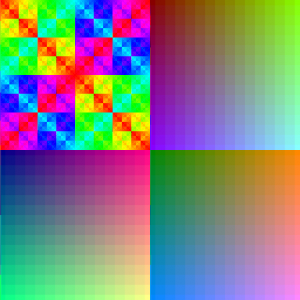 Color patterns - HAM6 with no dithering