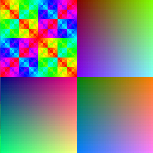HAM6 with checks (lines veriant) dithering - this method was specially designed around HAM color restrictions and thus looks clearer and is more reliable