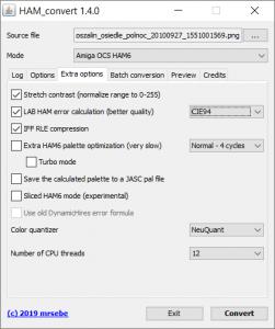 ham_convert 1.4.0 - extra options